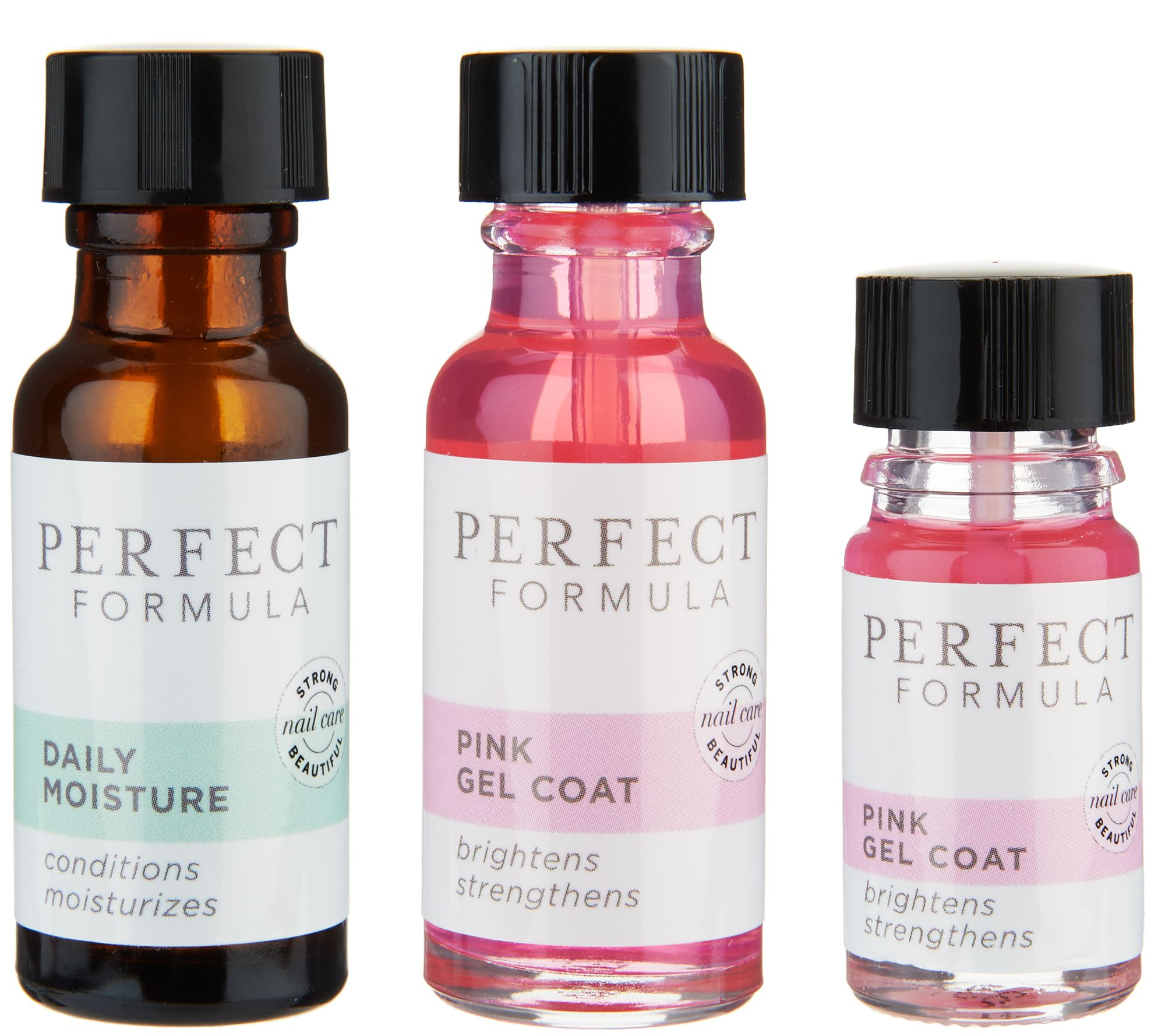 Perfect Formula Strong Nail System w/ Pink Gel Coat - Page 1 — QVC.com