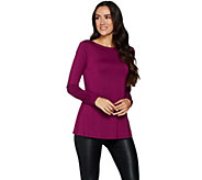 H by Halston Essentials Boatneck Top with Gusset Details - A296711