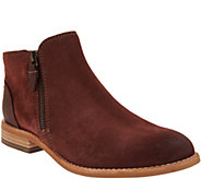 Clarks Artisan Leather Side Zip Ankle Booties - Maypearl Juno - A300611