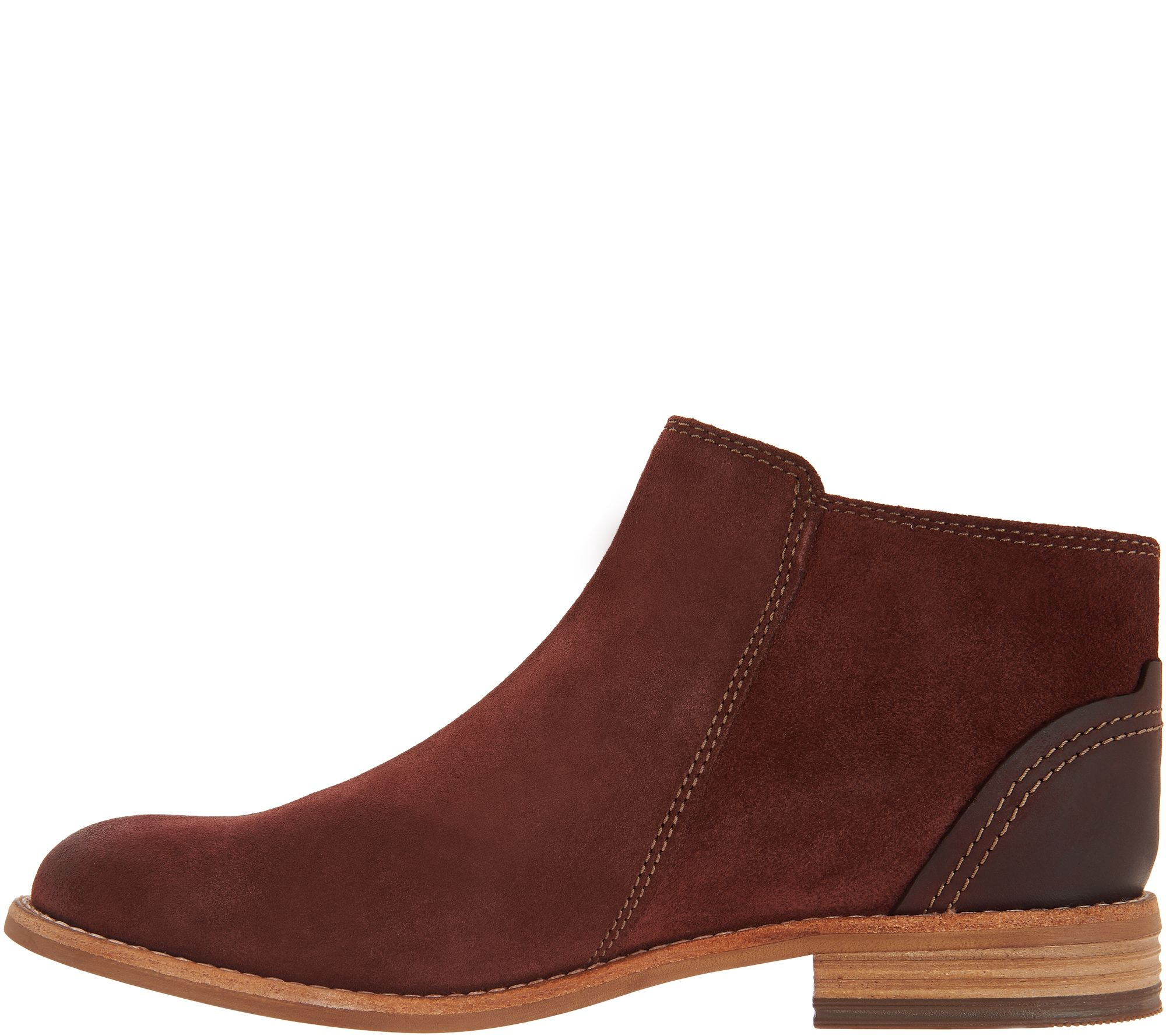 189b0f57db1e Clarks Artisan Leather Side Zip Ankle Booties - Maypearl Juno - Page 1 —  QVC.com