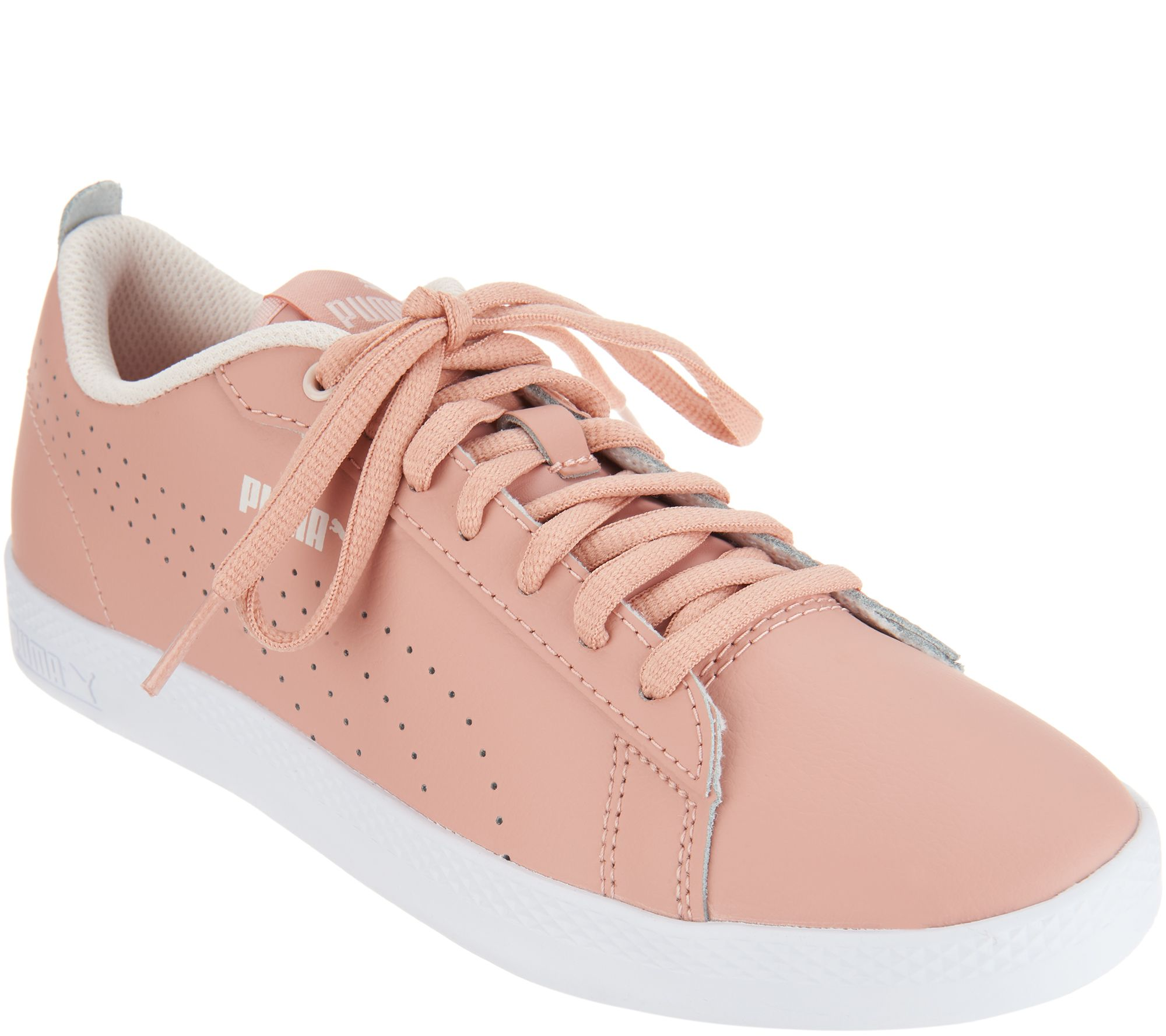 Puma Leather Court Sneakers - Smash Perf - Page 1 — QVC.com 37acabda3