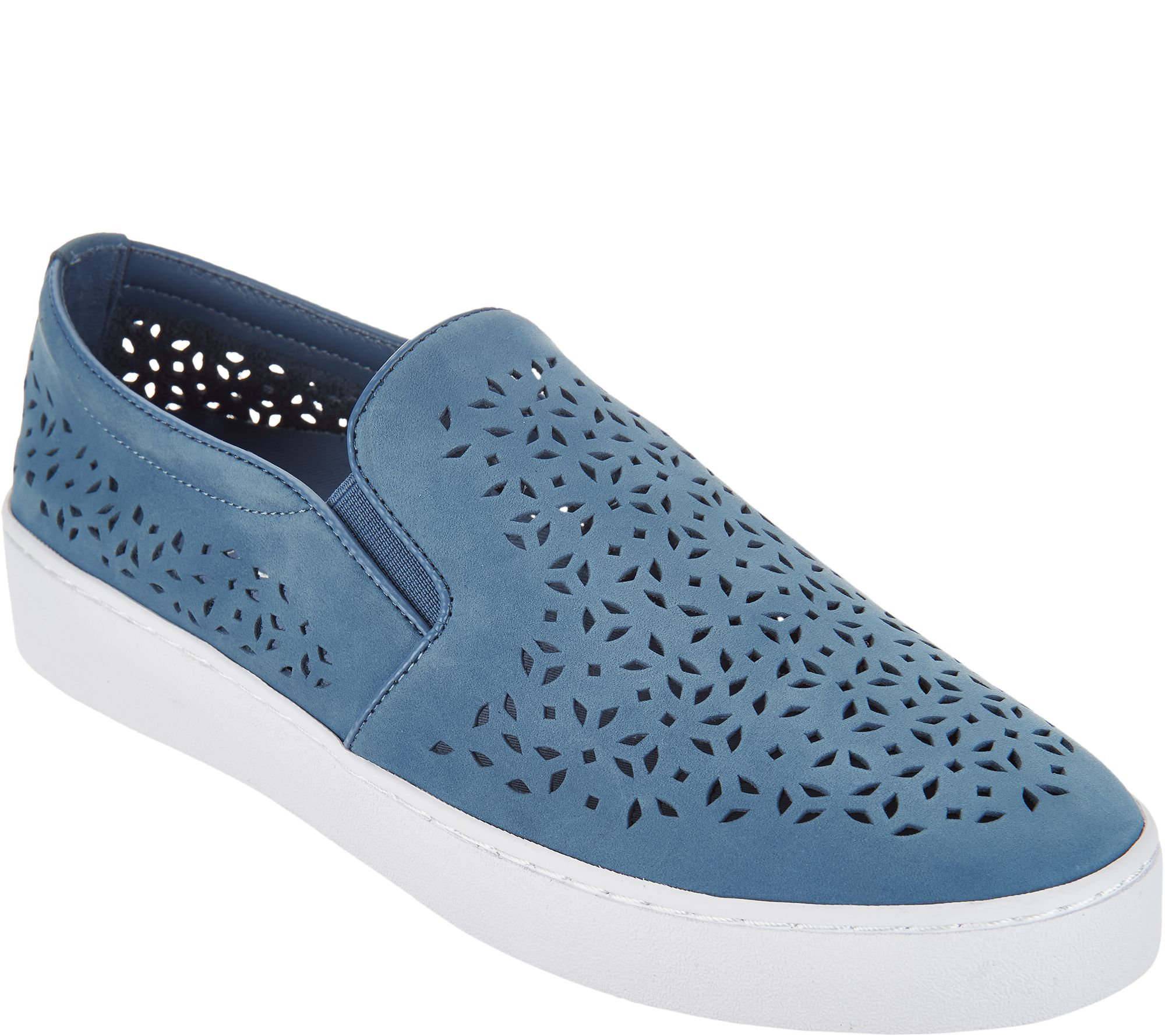 2dd380e7a09c6 Vionic Perforated Leather Slip-On - Midi Perf - Page 1 — QVC.com