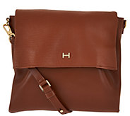 As Is H by Halston Lizard Embossed and Smooth Leather Crossbody Bag - A304411