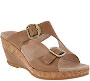 Dansko Leather Adjustable Wedge Sandals - Carla - A304711