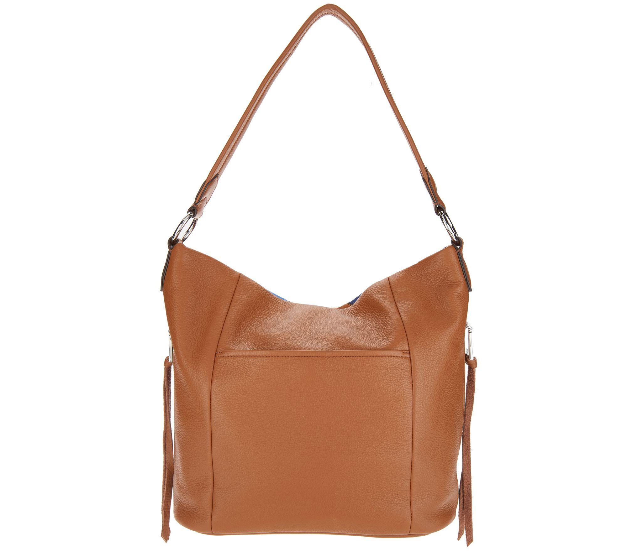 8b66781a60d5 Aimee Kestenberg Pebble Leather Hobo - Tulum - Page 1 — QVC.com