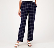 Susan Graver Regular Printed Liquid Knit Pull-On Pants - A310111