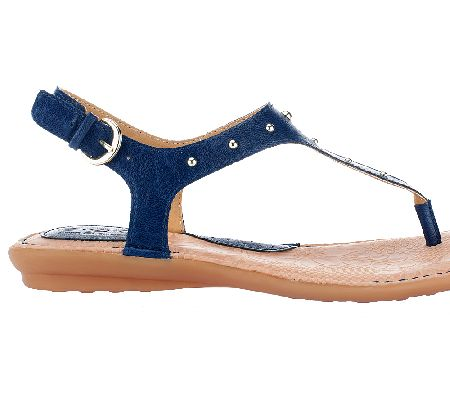 19b7e7396b8e8 B.O.C. by Born Candia T-Strap Thong Sandals w  Back Strap — QVC.com
