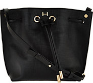 H by Halston Saffiano Leather Drawstring Handbag - A276512
