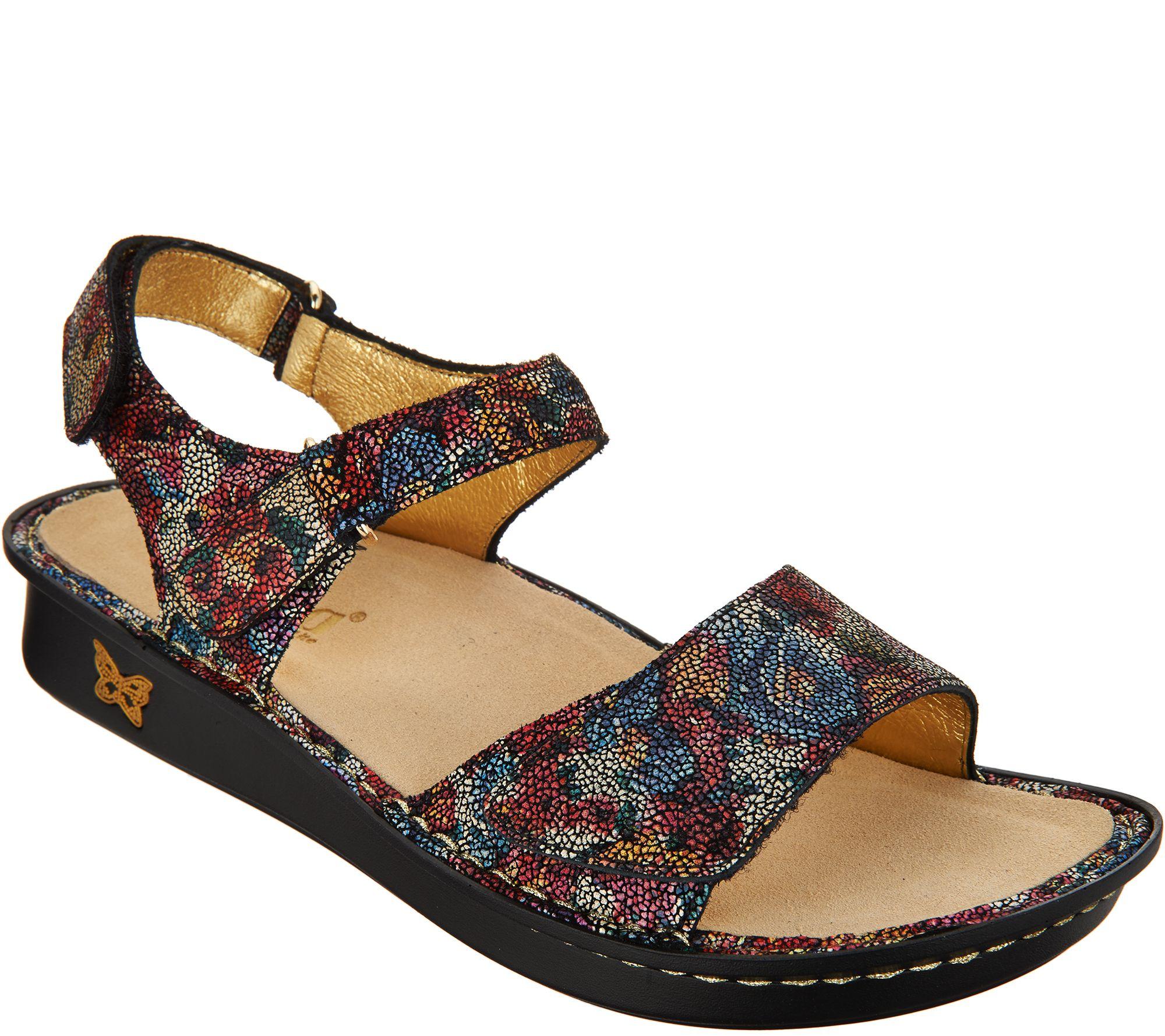 0f7a326e9e1 Alegria Leather Adjustable Sandals - Patti - Page 1 — QVC.com
