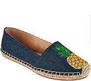 C. Wonder Embroidered Pineapple Denim Espadrilles - Penelope - A291212