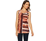 Studio by Denim & Co. Printed Round Neck Tunic Tank - A292512