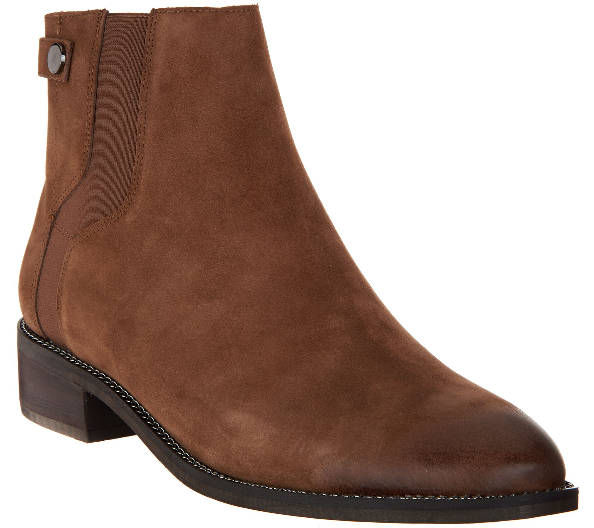 256c6c96a9 Franco Sarto Leather Ankle Boots - Brandy - Page 1 — QVC.com