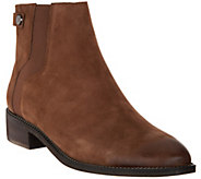 Franco Sarto Leather Ankle Boots - Brandy - A298312
