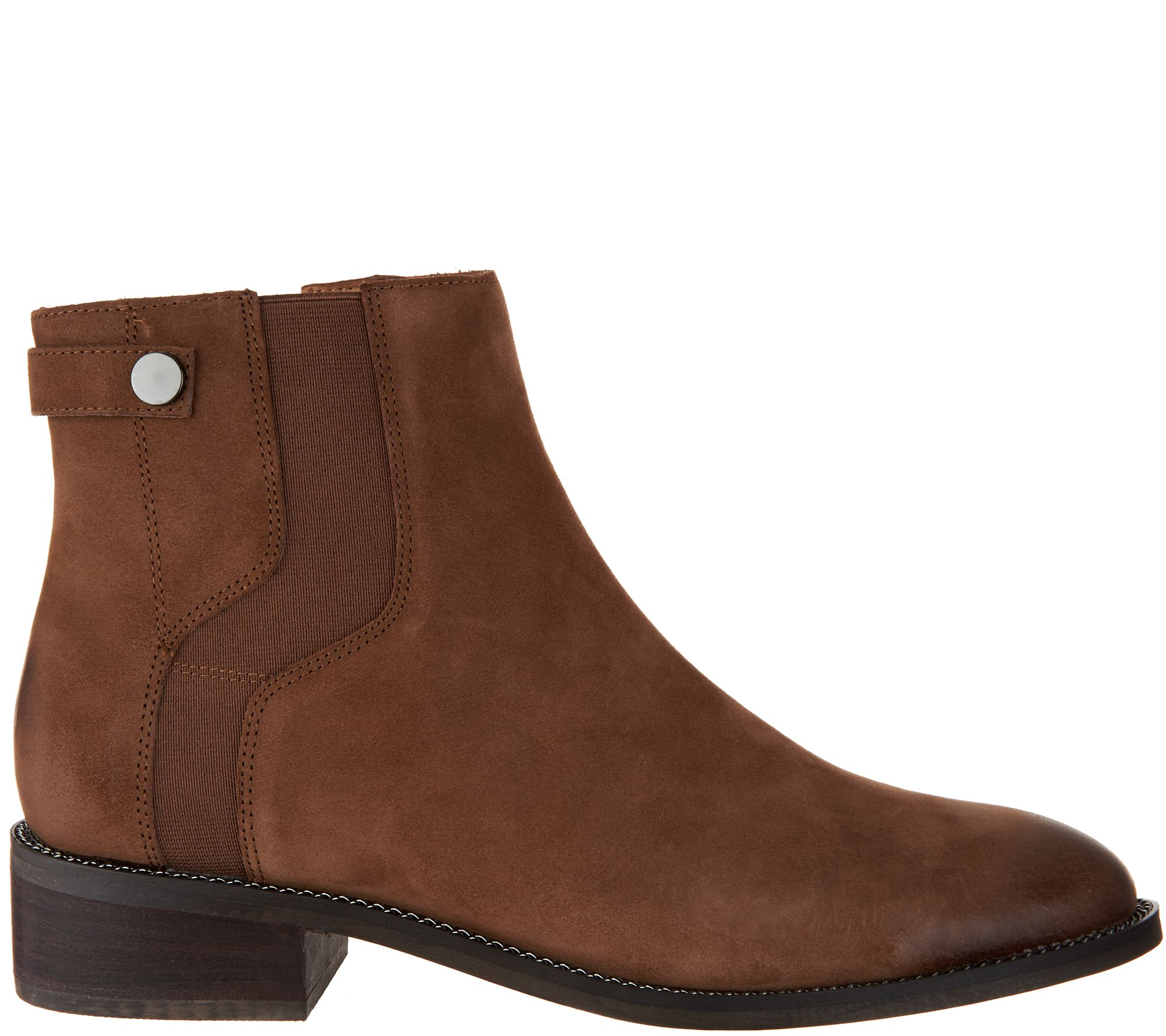 2c54238b1880 Franco Sarto Leather Ankle Boots - Brandy - Page 1 — QVC.com