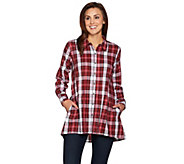 As Is Joan Rivers Plaid Swing Style Shirt - A298712