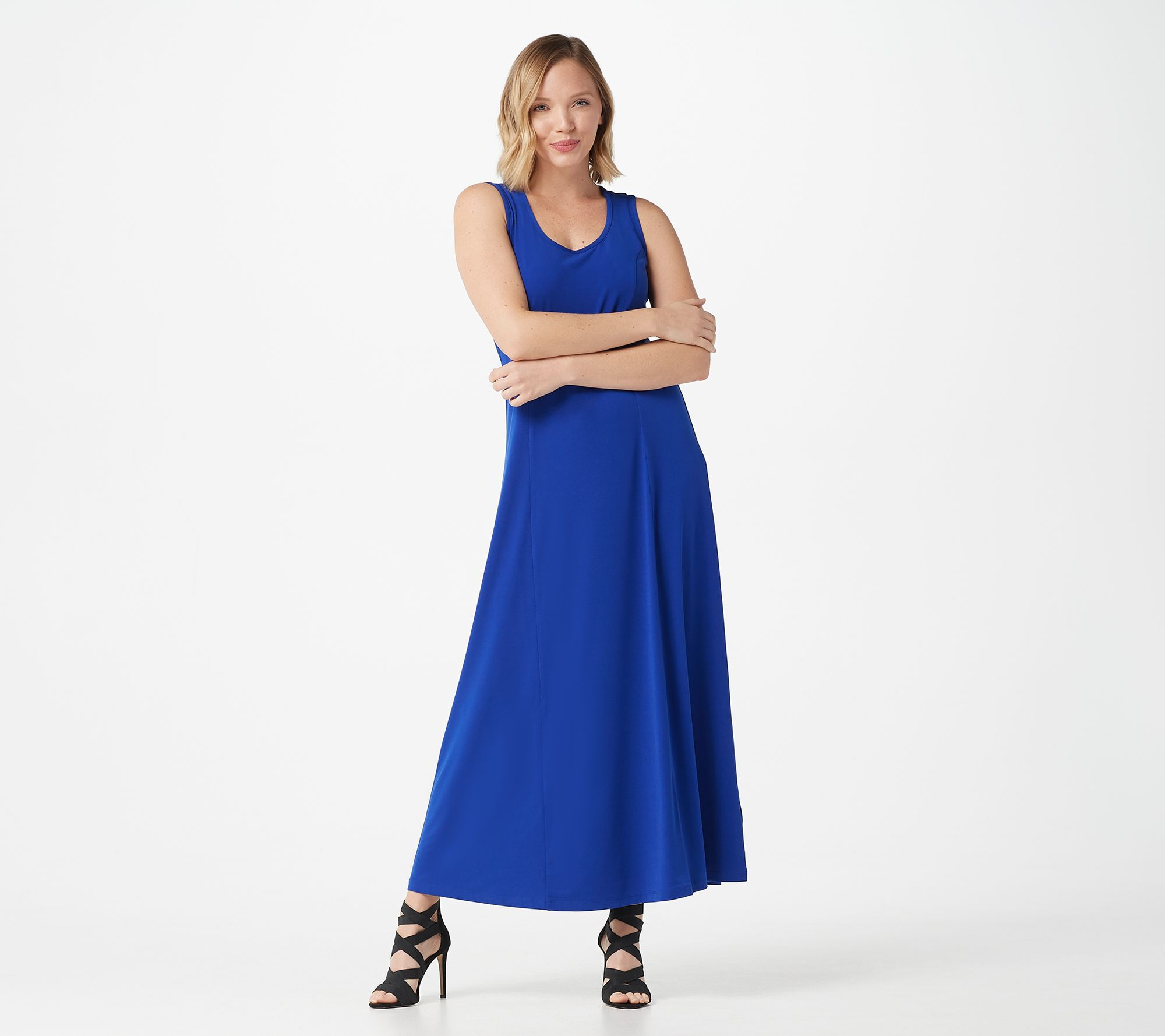 ad285bf60a5f Susan Graver Liquid Knit Sleeveless Maxi Dress - Page 1 — QVC.com