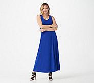 Susan Graver Liquid Knit Sleeveless Maxi Dress - A303412