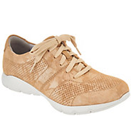 Dansko Leather or Nubuck Lace-up Sneakers - Alissa - A303512
