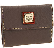 As Is Dooney & Bourke Pebble Leather Credit Card Wallet - A306012