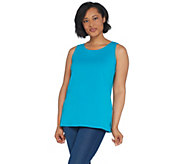 Martha Stewart Classics Crew-Neck Tank Top with Side Slits - A309312