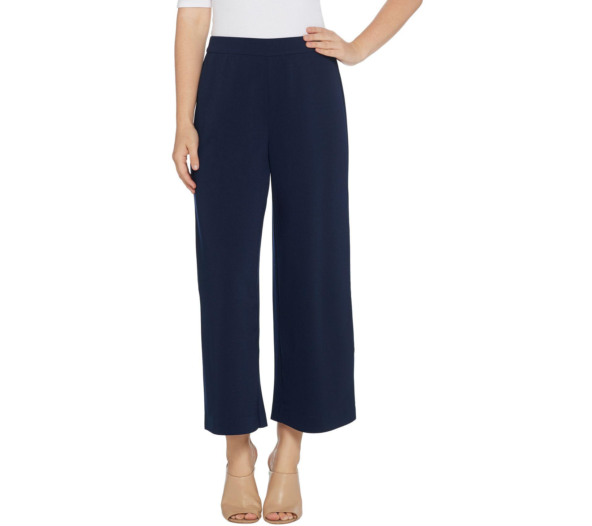 26e55c1f7c Susan Graver Milano Knit Wide Leg Crop Pants - Page 1 — QVC.com