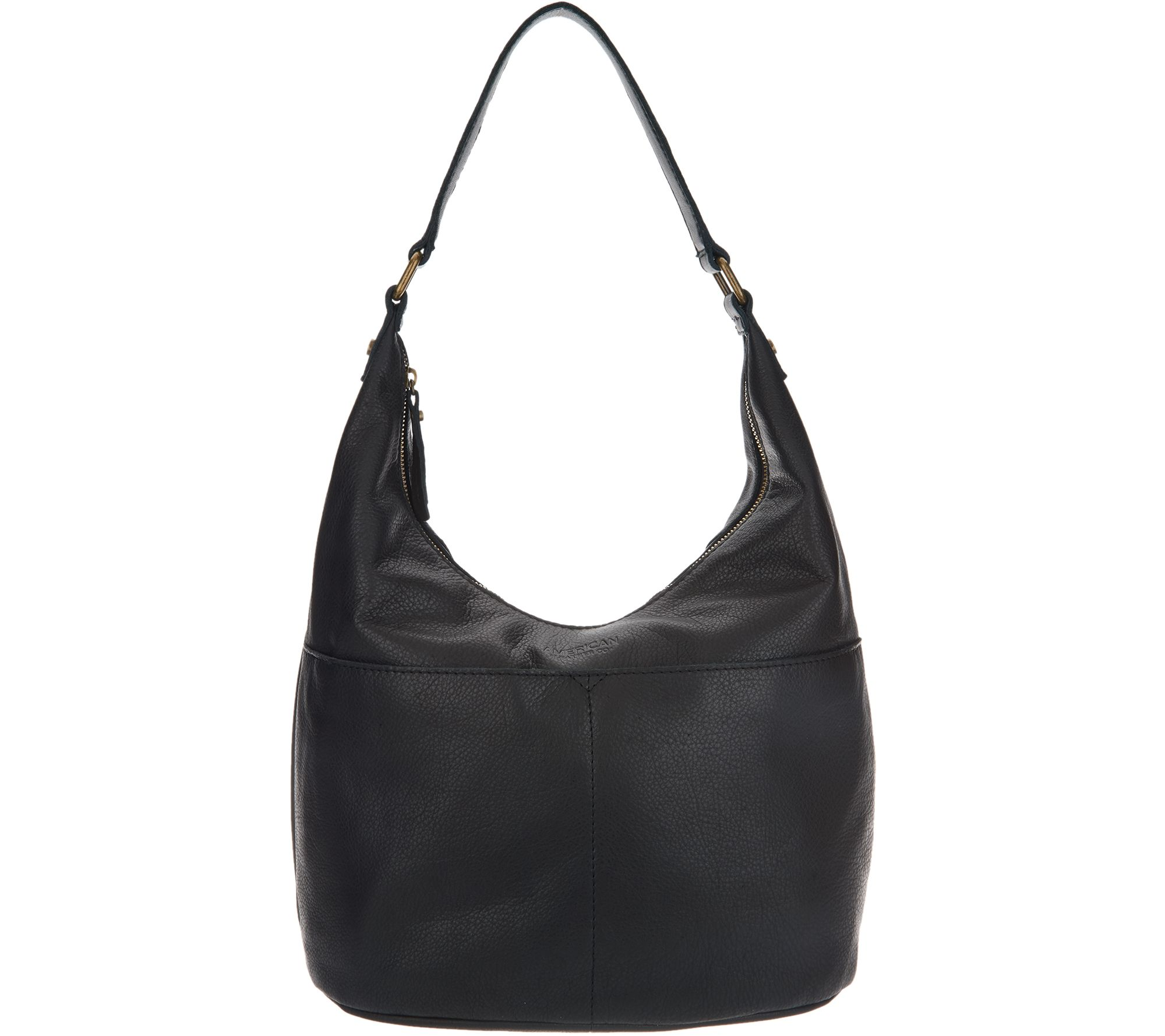 c97c630946 American Leather Co. Glove Leather Hobo Handbag - Carrie - Page 1 — QVC.com