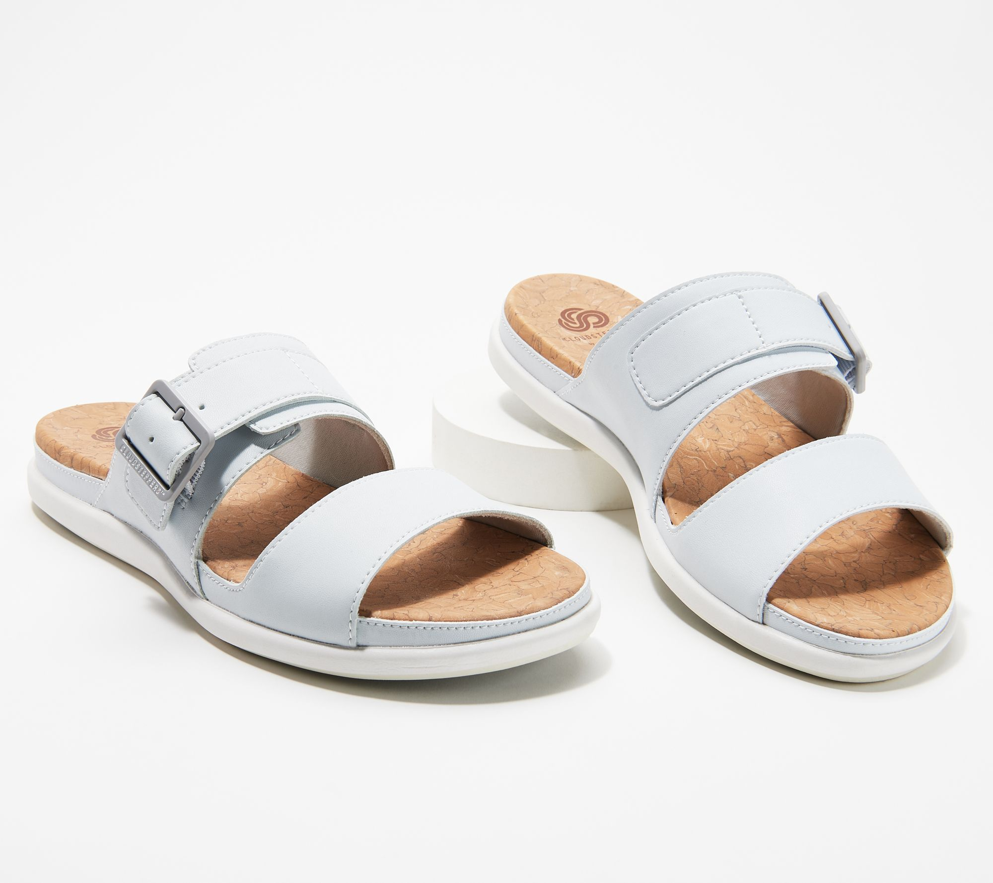 997a6cd5dbec CLOUDSTEPPERS by Clarks Slip-On Sandals - Step June Tide - Page 1 — QVC.com