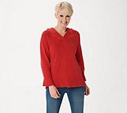 Martha Stewart Hooded Pullover Sweater - A351512