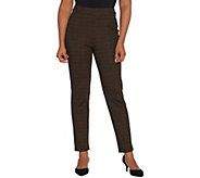As Is Joan Rivers Petite Houndstooth Pull-On Ankle Pants - A366612