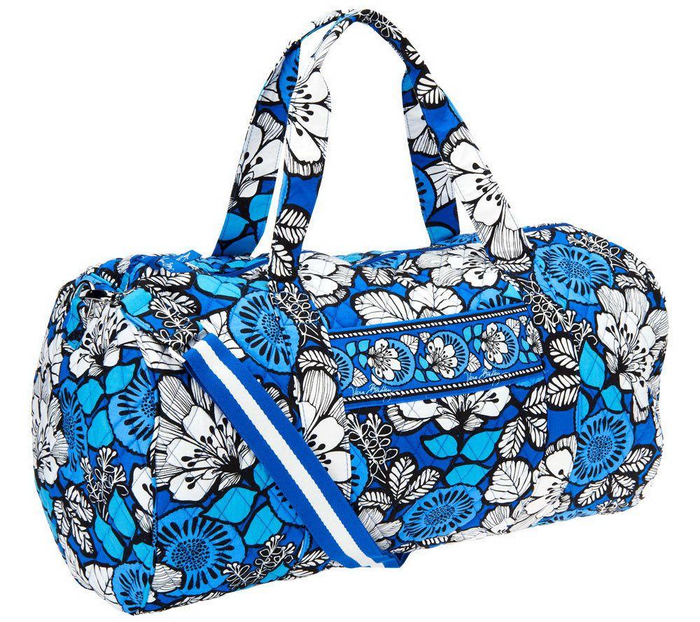 7b12040a3c41 Vera Bradley Signature Print Travel Duffel Bag - Page 1 — QVC.com