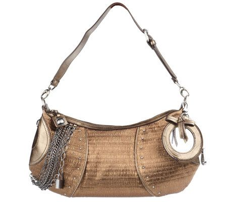 a3b57ac720 Gretta Ruched Fabric Medium Size Hobo Bag with Chain Detail - Page 1 —  QVC.com
