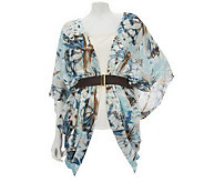 Renees Reversible Jacket Top w/Built-In Belt by Sure Couture - A223313