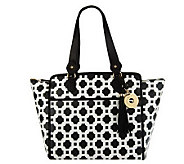 As Is Isaac Mizrahi Live! Bridgehampton Printed Canvas Tote - A251813