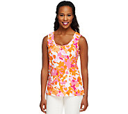 Denim & Co. Perfect Jersey Abstract Print Tank Top - A252813