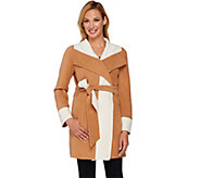 Susan Graver Weekend Lightweight Fleece Wrap Jacket - A269313