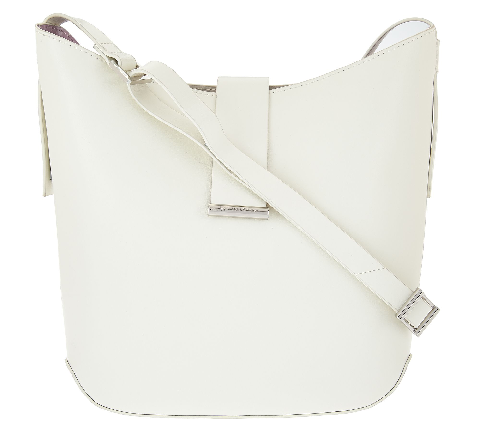 9405652806a9 H by Halston Double Face Leather Crossbody Handbag - Page 1 — QVC.com