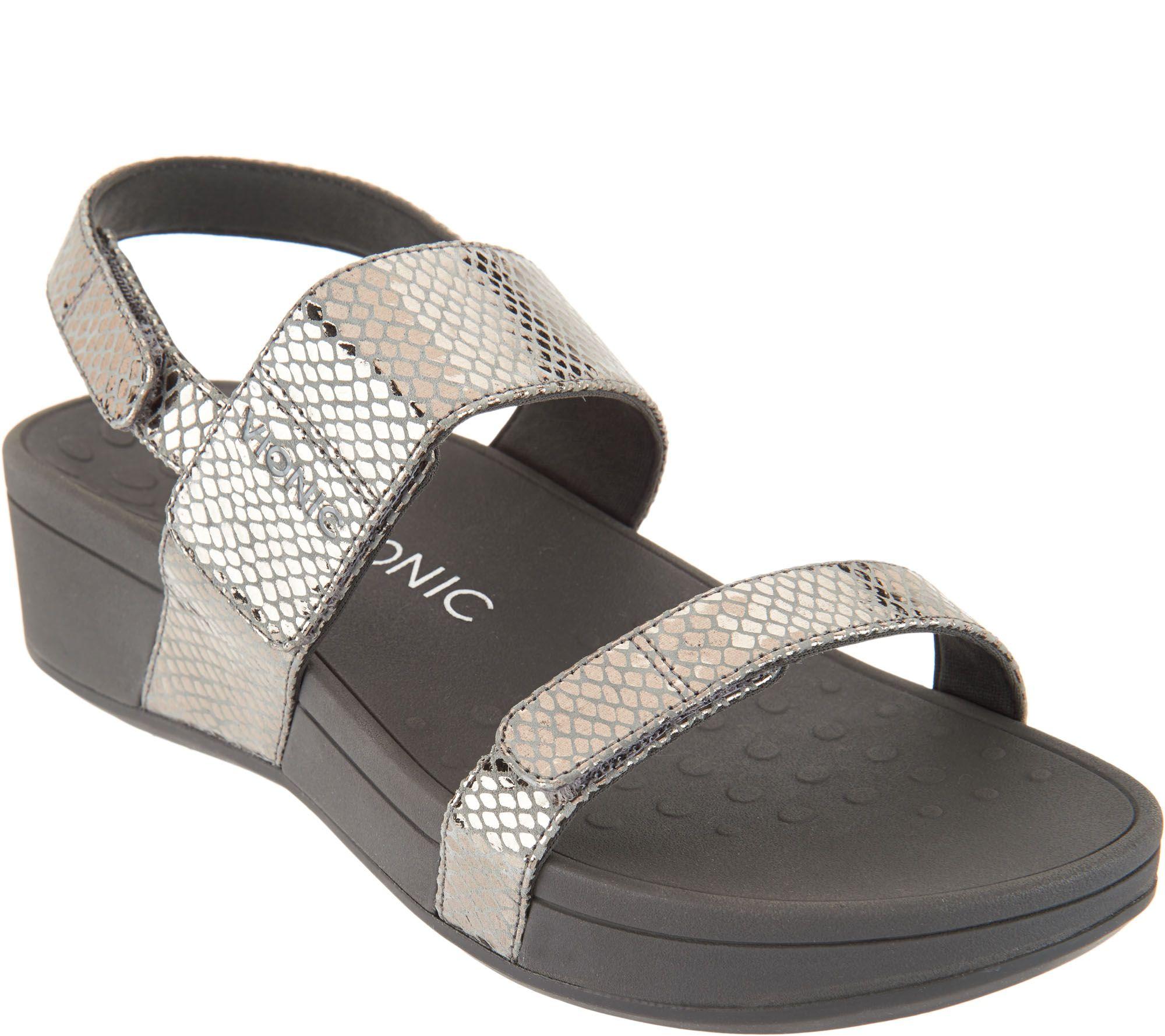 7ff44d25c2a3 Vionic Platform Leather Sandals - Bolinas - Page 1 — QVC.com