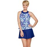 Ocean Dream Signature Floral Mosaic Hi Neck Tankini Swimsuit - A288813