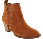 Vionic Suede Boots w/ Stud Detail - Landen - A293813