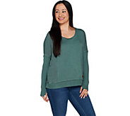Peace Love World Mixed Texture Relaxed Knit Top - A294413
