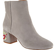 Franco Sarto Suede or Brocade Ankle Boots - Jubilee - A298313