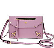 As Is orYANY Pebble Leather Crossbody - Zaria - A298413
