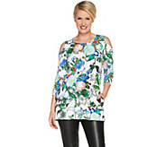 Attitudes by Renee Jersey Cold Shoulder Tunic with Pockets - A301313