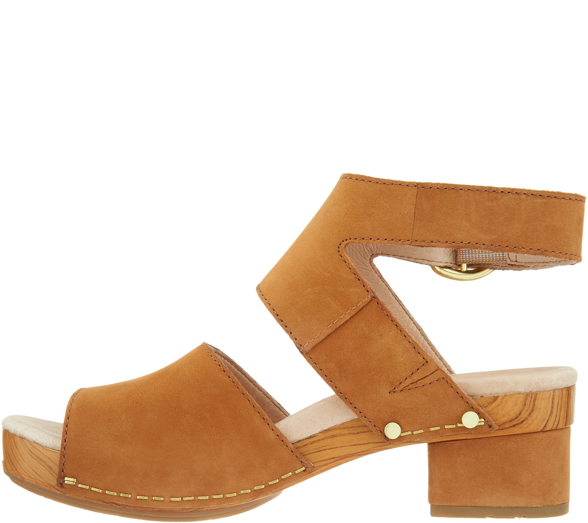 6e70d260b38 Dansko Leather Heeled Sandals - Minka - Page 1 — QVC.com
