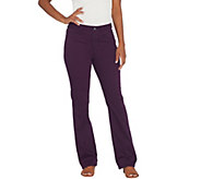 Susan Graver Regular Stretch Twill Mini Boot-Cut Pants - A310113