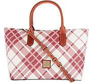 Dooney & Bourke Coated Cotton Plaid Brielle Tote - A342813