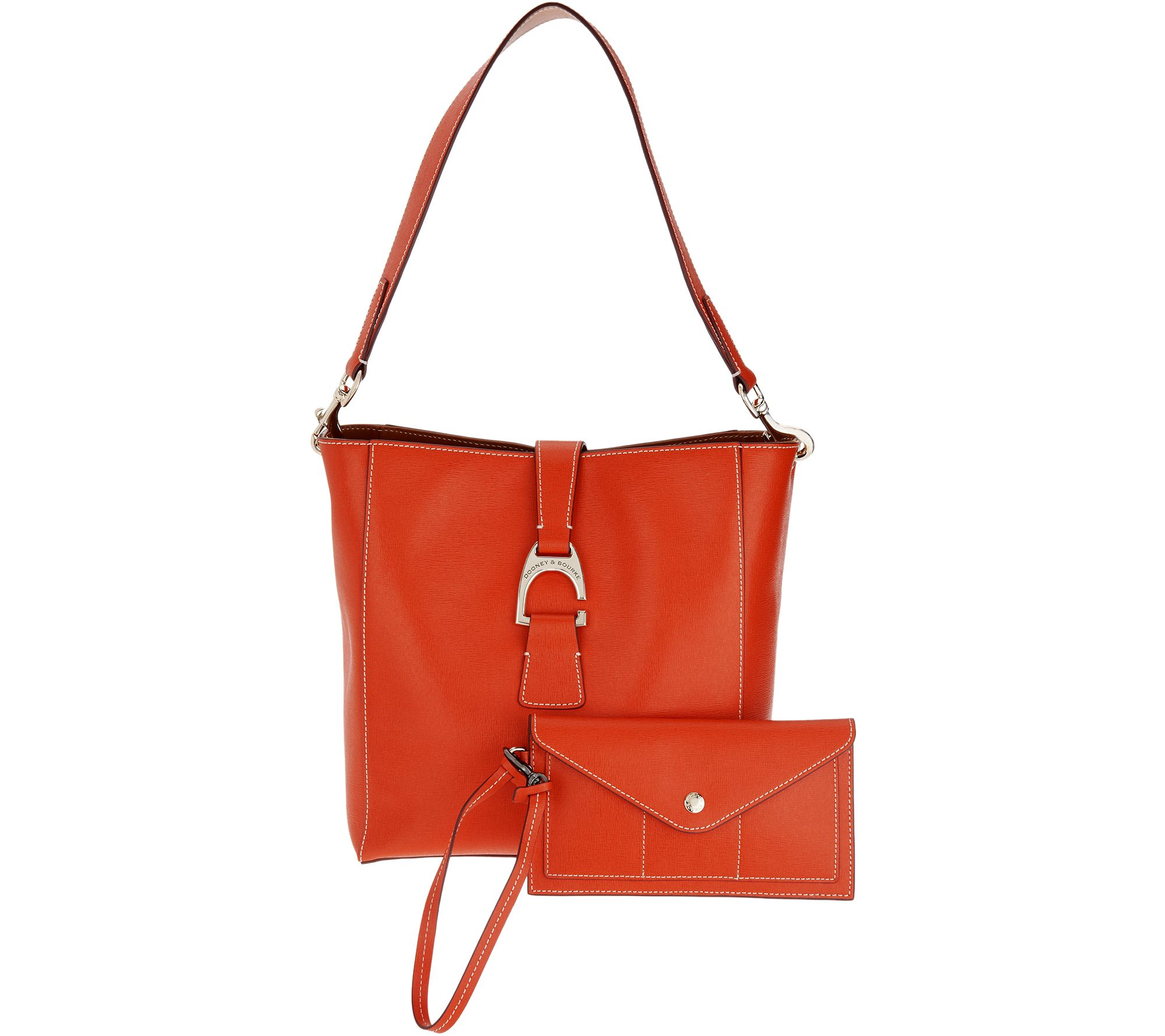 As Is Dooney Bourke Saffiano Leather Shoulder Bag Qvc