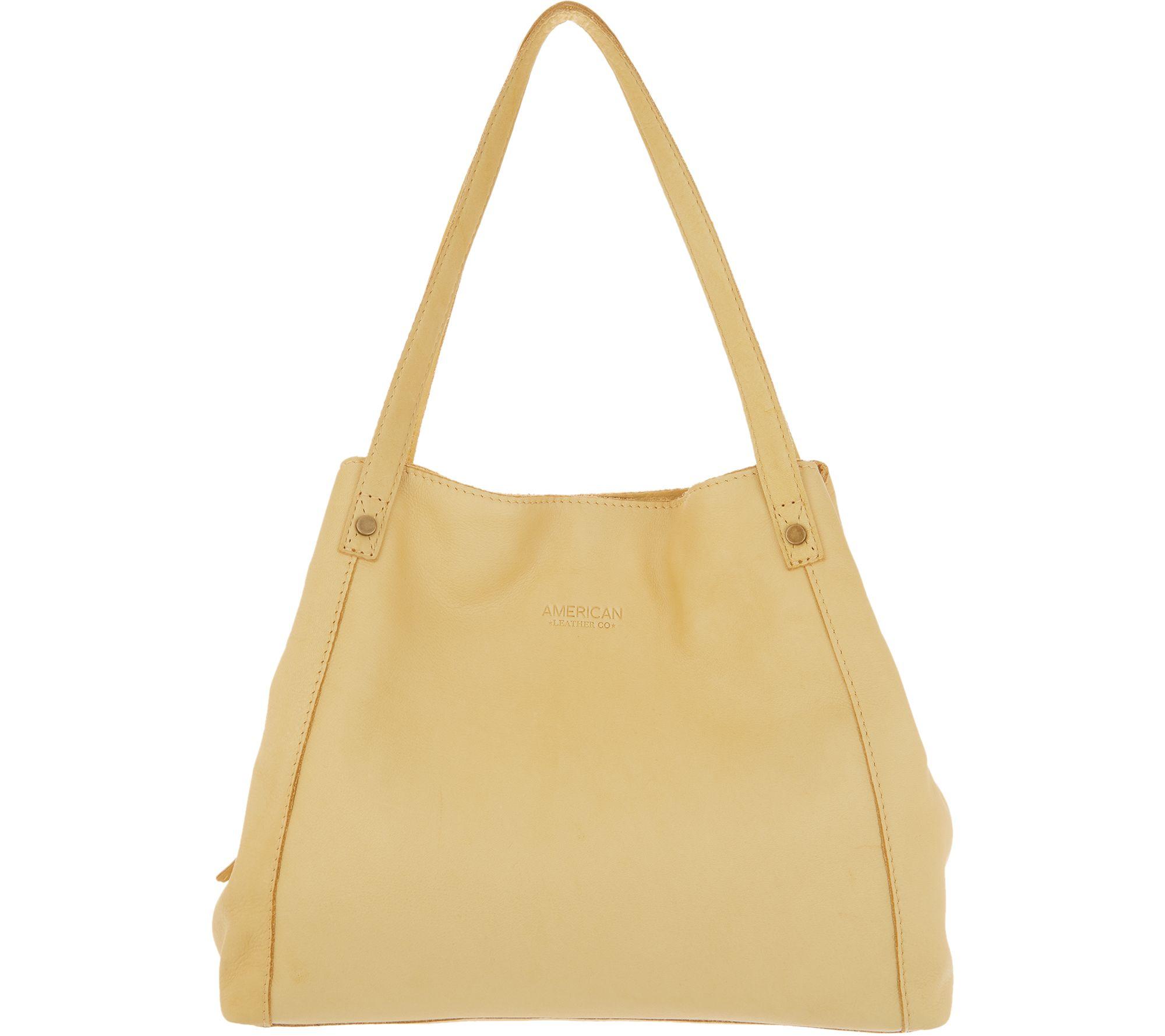 f3d249c941 American Leather Co. Glove Leather Shopper Handbag - Liberty - Page 1 —  QVC.com