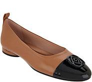 Taryn Rose Leather Cap-Toe Flats - Penelope - A347413