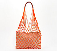 Vince Camuto Rope and Canvas Tote Bag - Zest - A352313